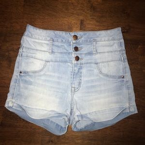 Ships Today!  Sky Blue High Shorts